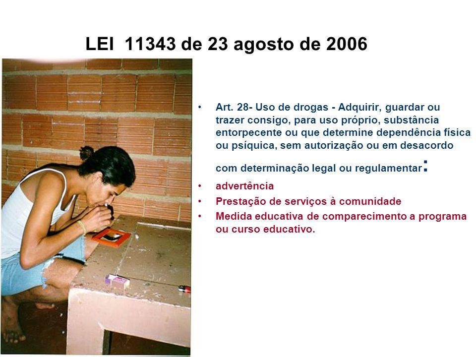 LEI 11343 de 23 agosto de 2006