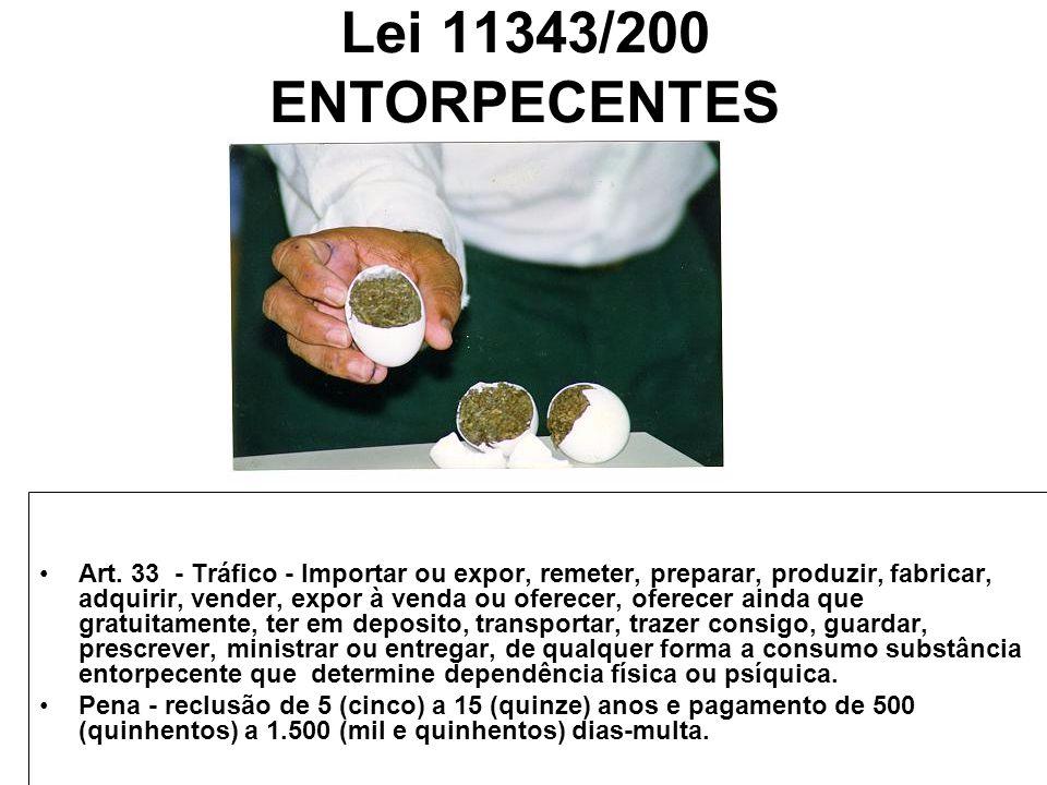 Lei 11343/200 ENTORPECENTES