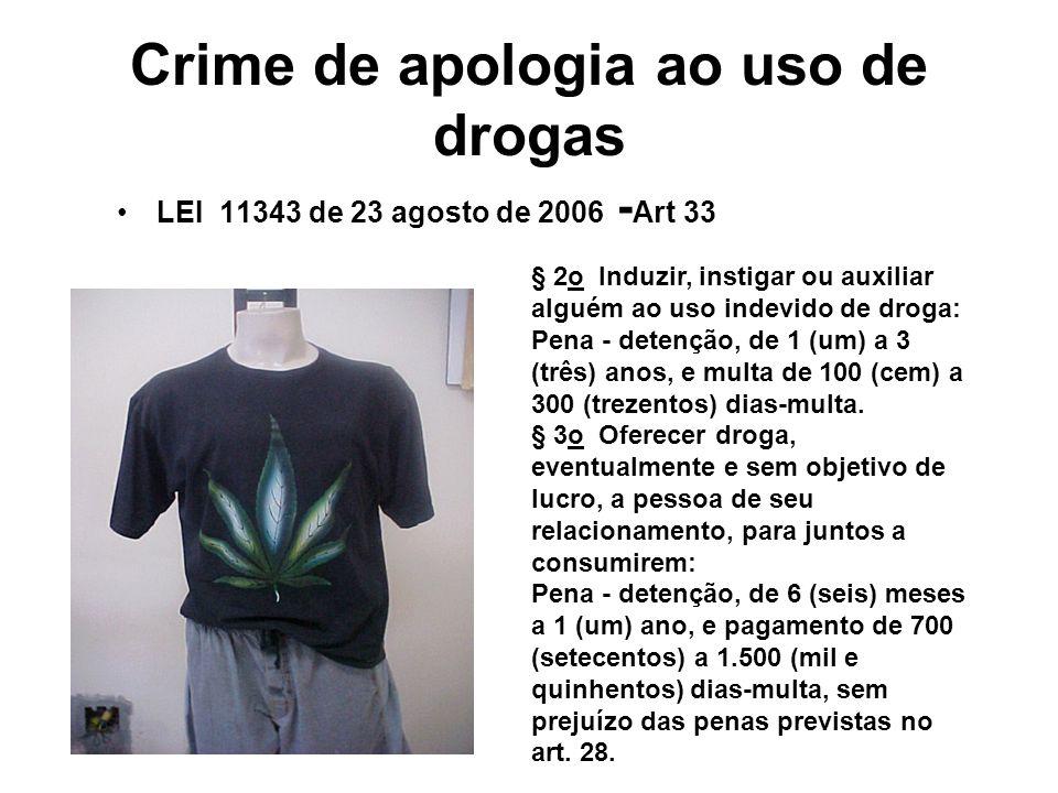Crime de apologia ao uso de drogas