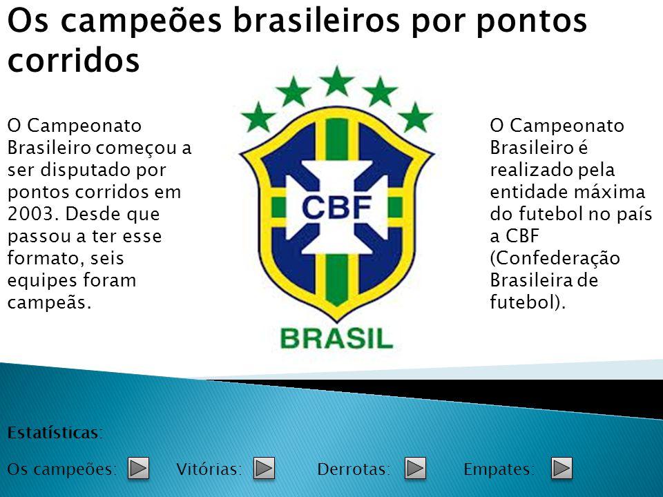 Os campeões brasileiros por pontos corridos