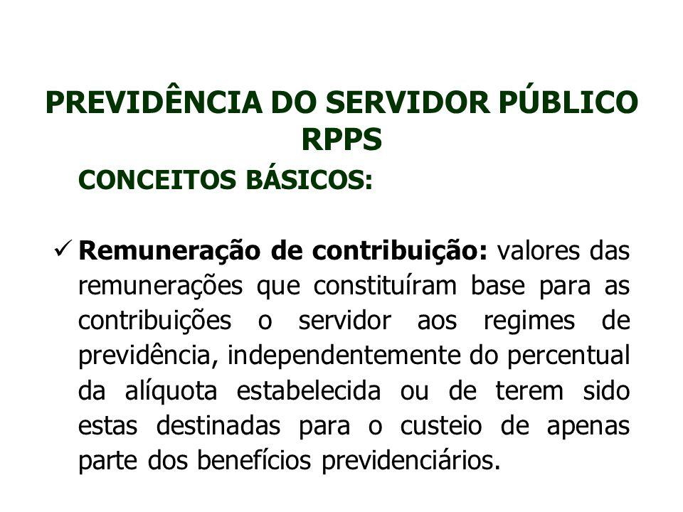PREVIDÊNCIA DO SERVIDOR PÚBLICO RPPS