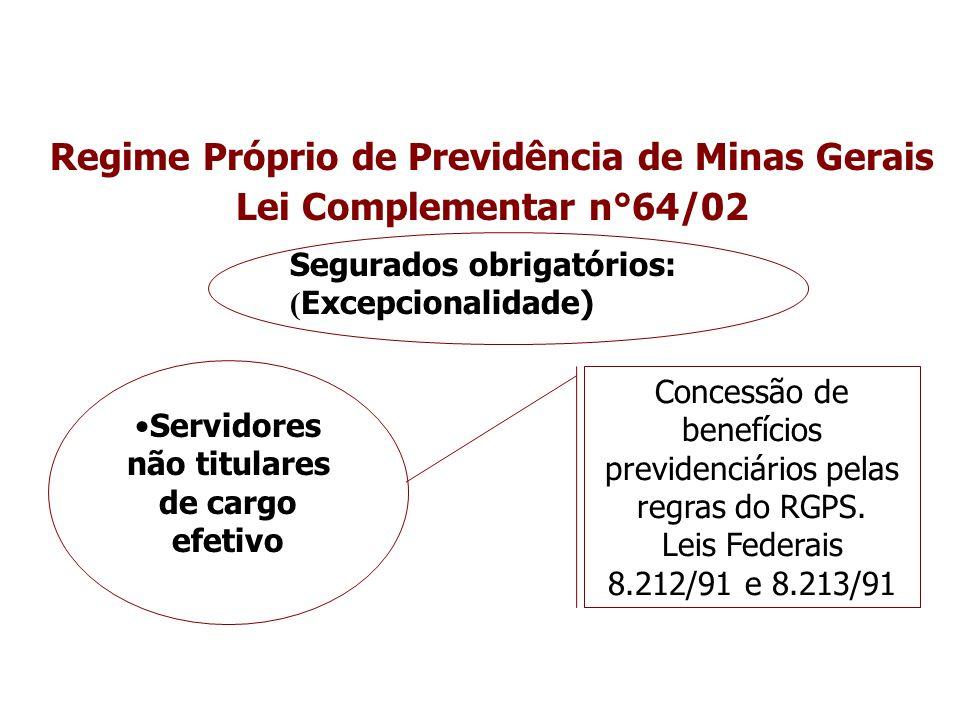Regime Próprio de Previdência de Minas Gerais Lei Complementar n°64/02
