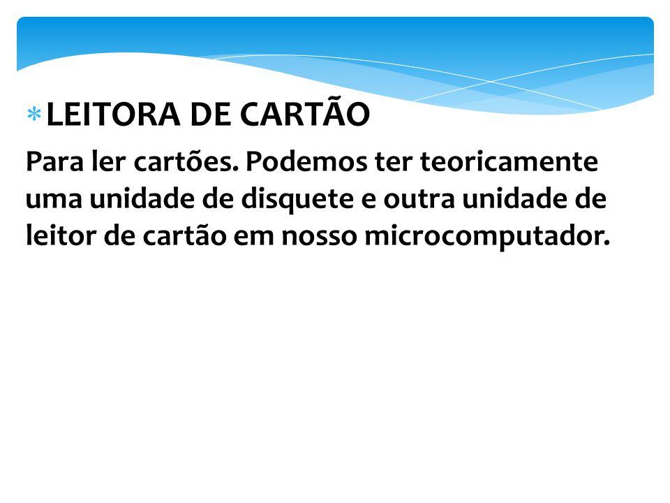 LEITORA DE CARTÃO Para ler cartões.