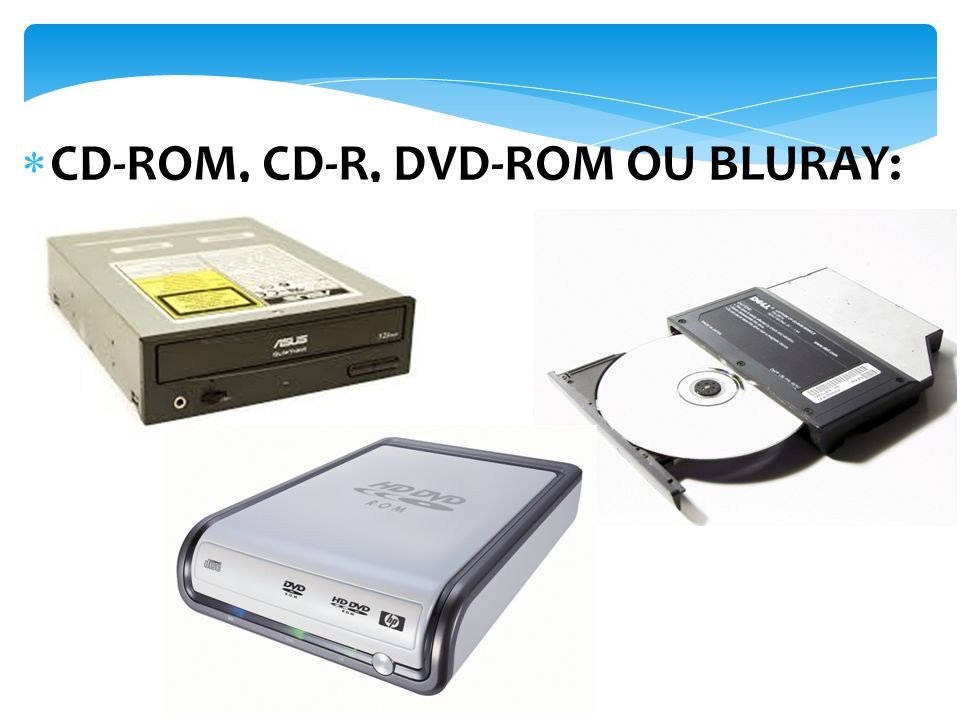 CD-ROM, CD-R, DVD-ROM OU BLURAY: