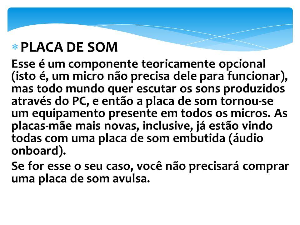 PLACA DE SOM