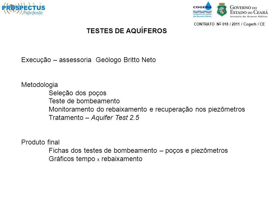 Execução – assessoria Geólogo Britto Neto