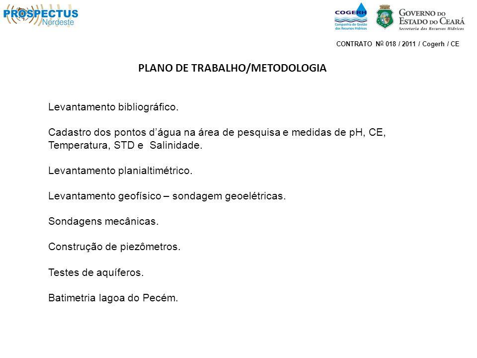 PLANO DE TRABALHO/METODOLOGIA