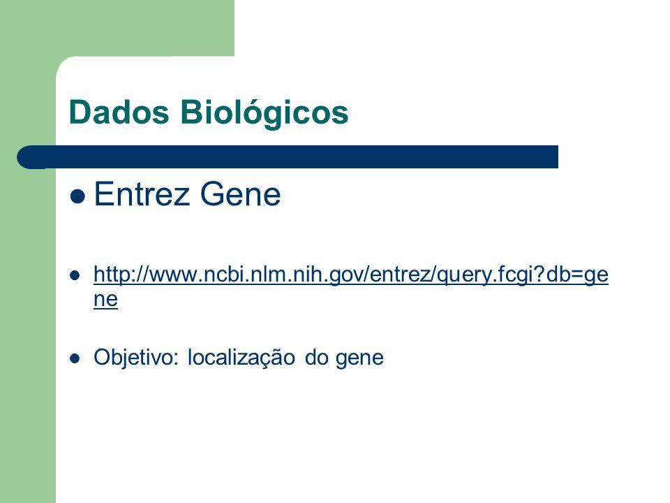 Dados Biológicos Entrez Gene