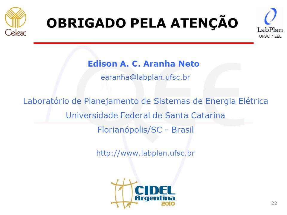 OBRIGADO PELA ATENÇÃO Edison A. C. Aranha Neto