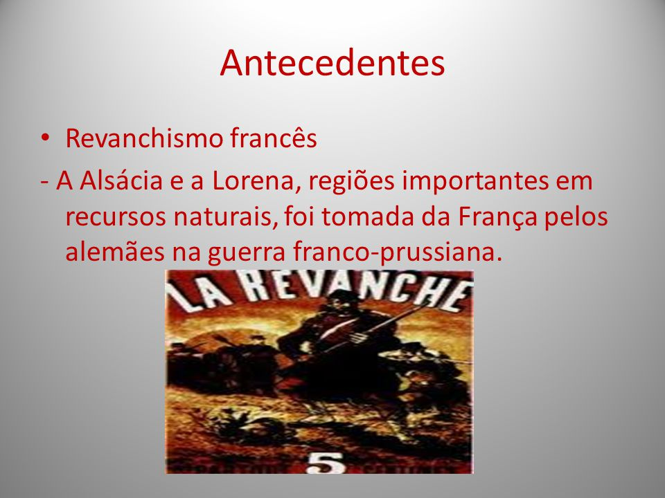 Antecedentes Revanchismo francês