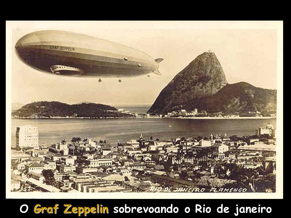 O Graf Zeppelin sobrevoando o Rio de janeiro