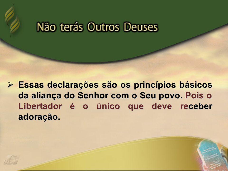 Essas declarações são os princípios básicos da aliança do Senhor com o Seu povo.