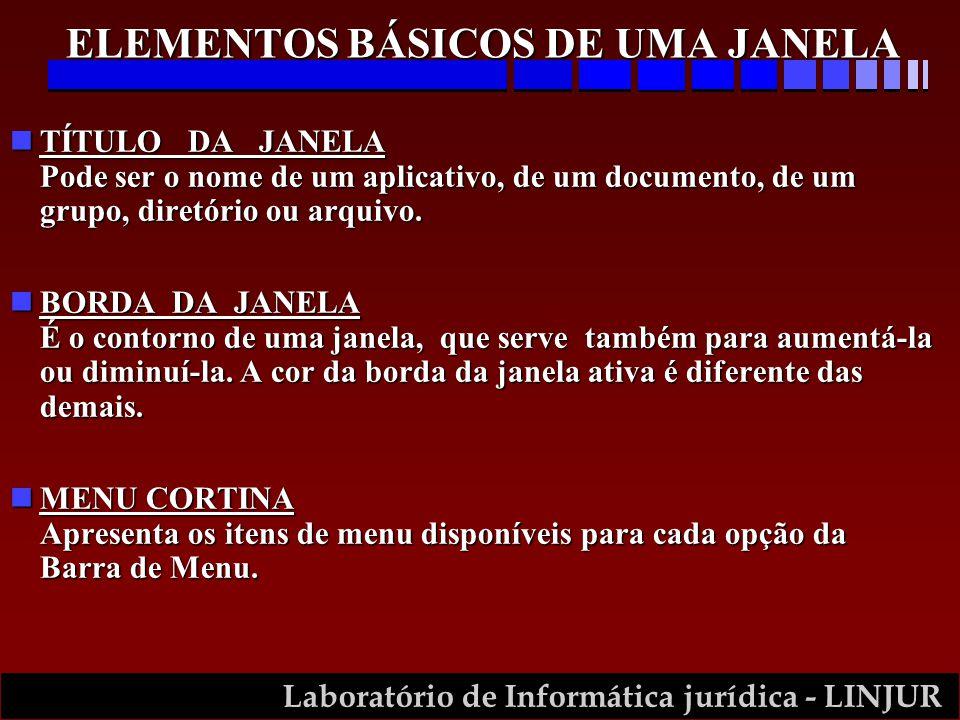 ELEMENTOS BÁSICOS DE UMA JANELA