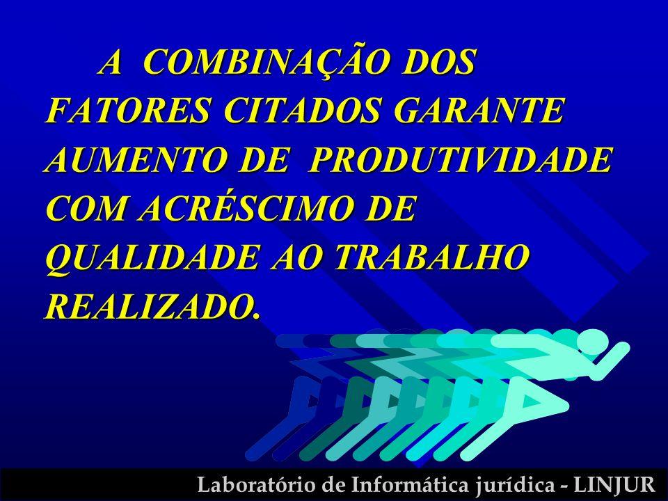 A COMBINAÇÃO DOS FATORES CITADOS GARANTE AUMENTO DE PRODUTIVIDADE COM ACRÉSCIMO DE QUALIDADE AO TRABALHO REALIZADO.