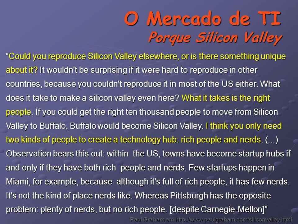 O Mercado de TI Porque Silicon Valley