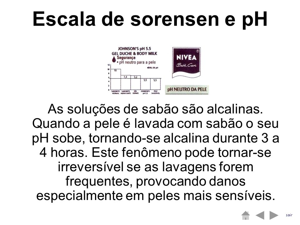 Escala de sorensen e pH