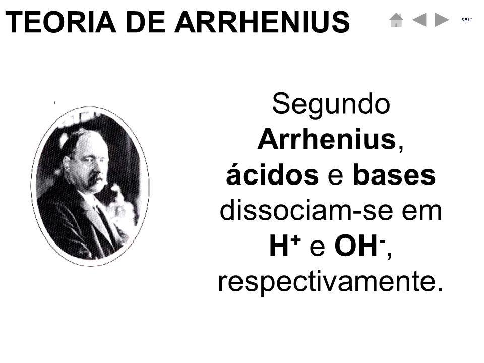 TEORIA DE ARRHENIUS sair.