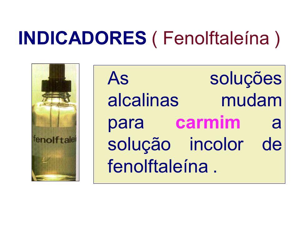 INDICADORES ( Fenolftaleína )