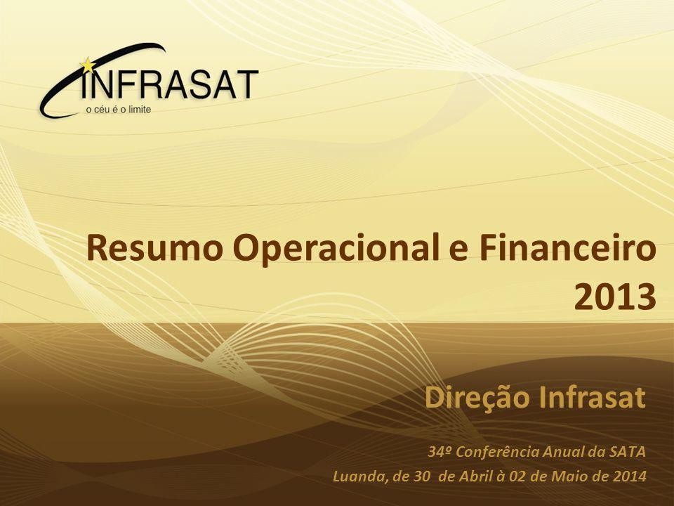 Planeamento InfraSat 2010 Resumo Operacional e Financeiro 2013