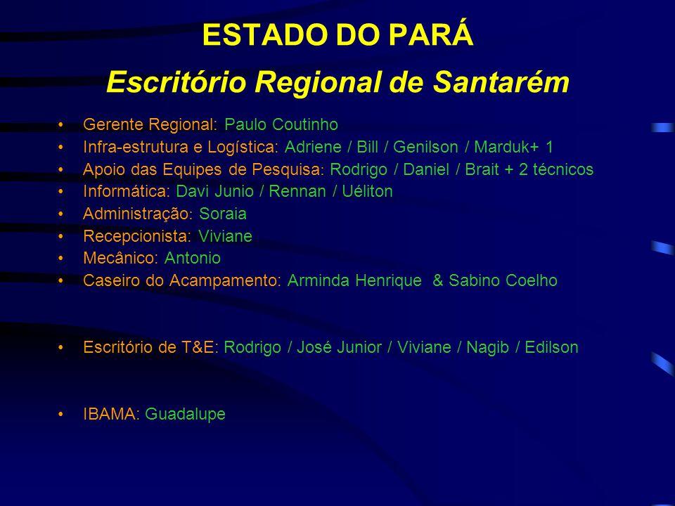 ESTADO DO PARÁ Escritório Regional de Santarém