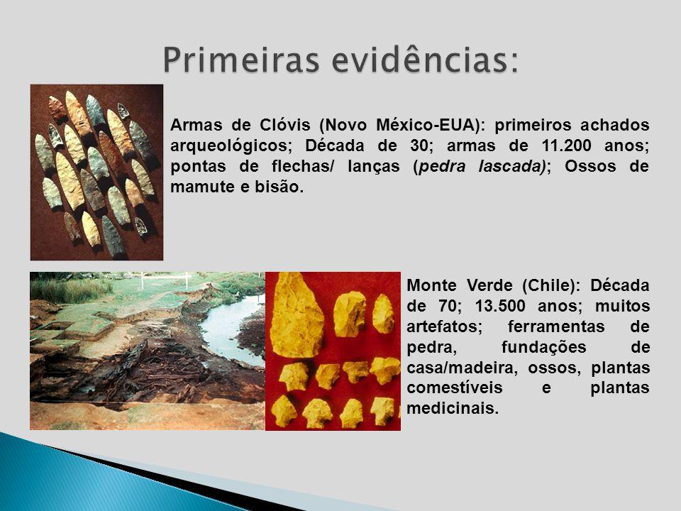 Primeiras evidências: