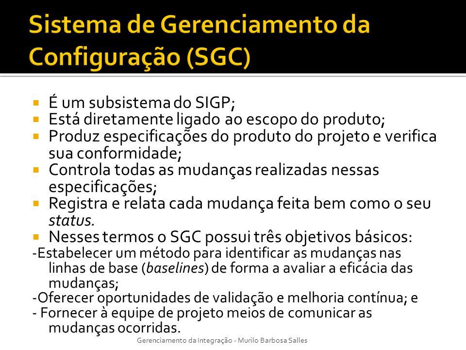 Sistema de Gerenciamento da Configuração (SGC)