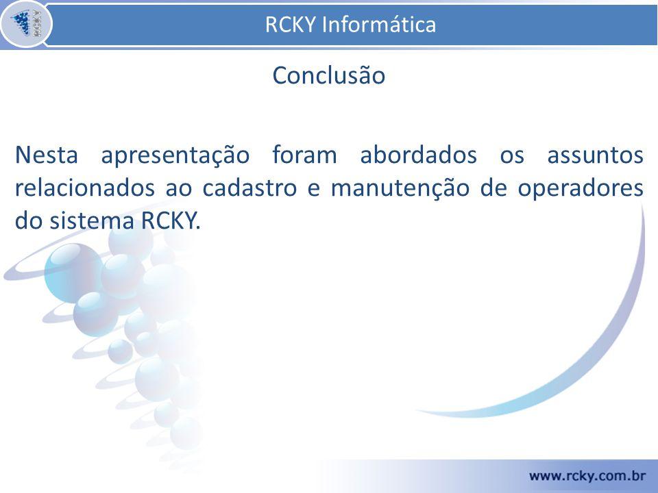 RCKY Informática Conclusão