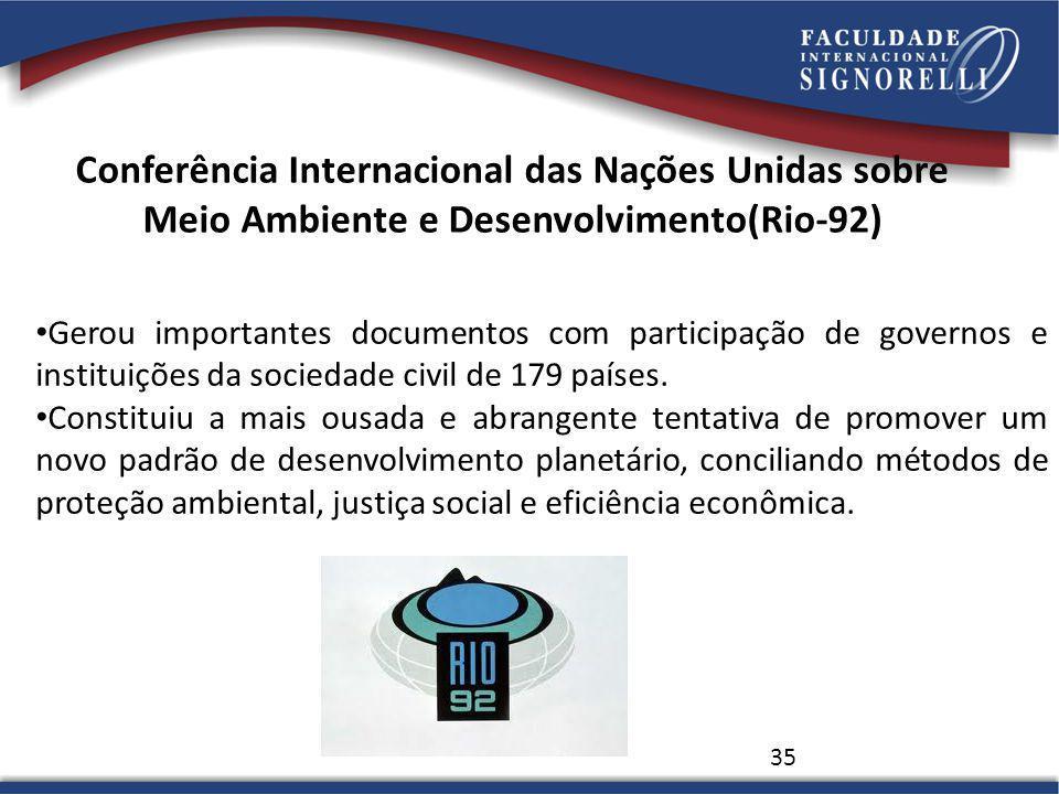 Conferência Internacional das Nações Unidas sobre Meio Ambiente e Desenvolvimento(Rio-92)