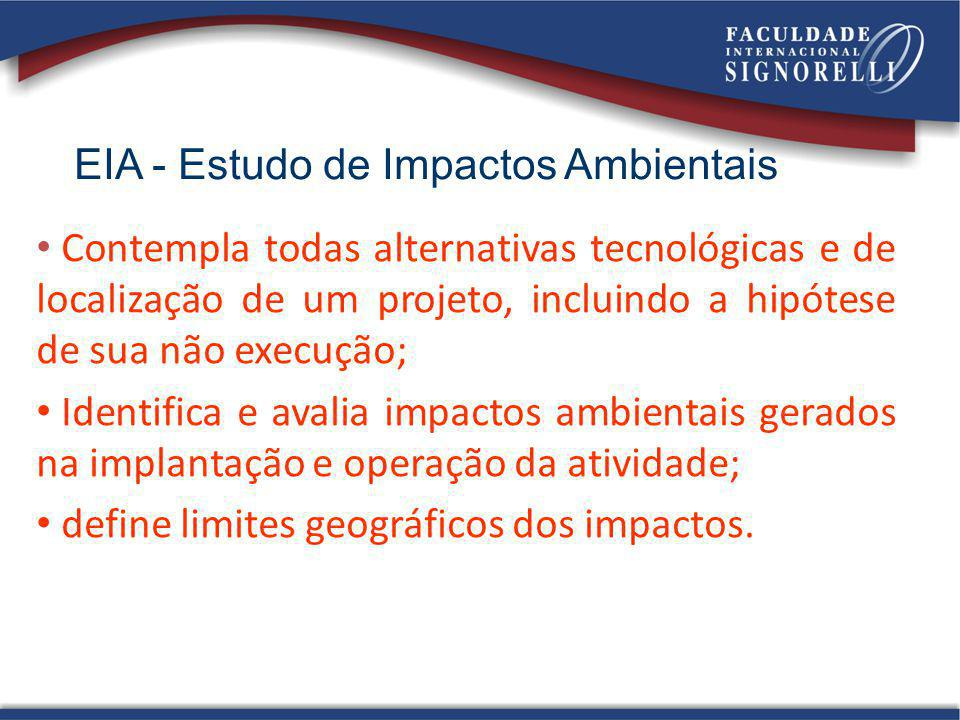 EIA - Estudo de Impactos Ambientais