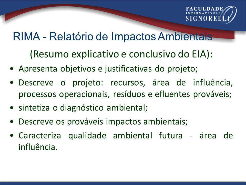 RIMA - Relatório de Impactos Ambientais