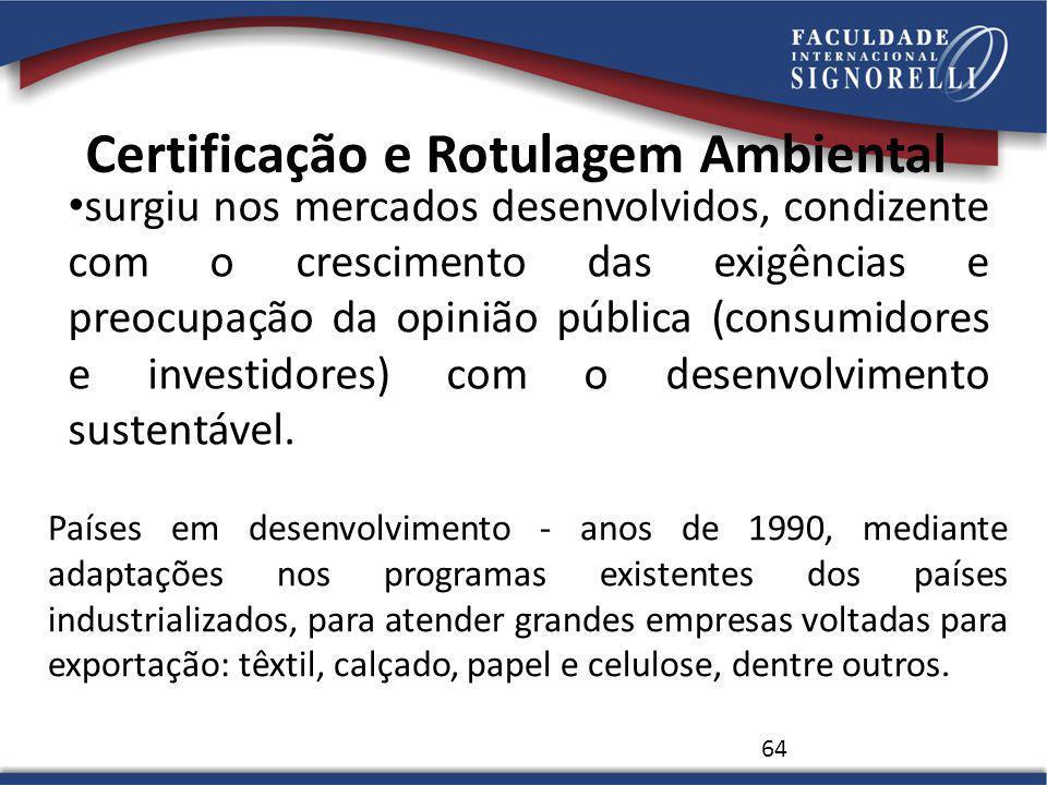 Certificação e Rotulagem Ambiental