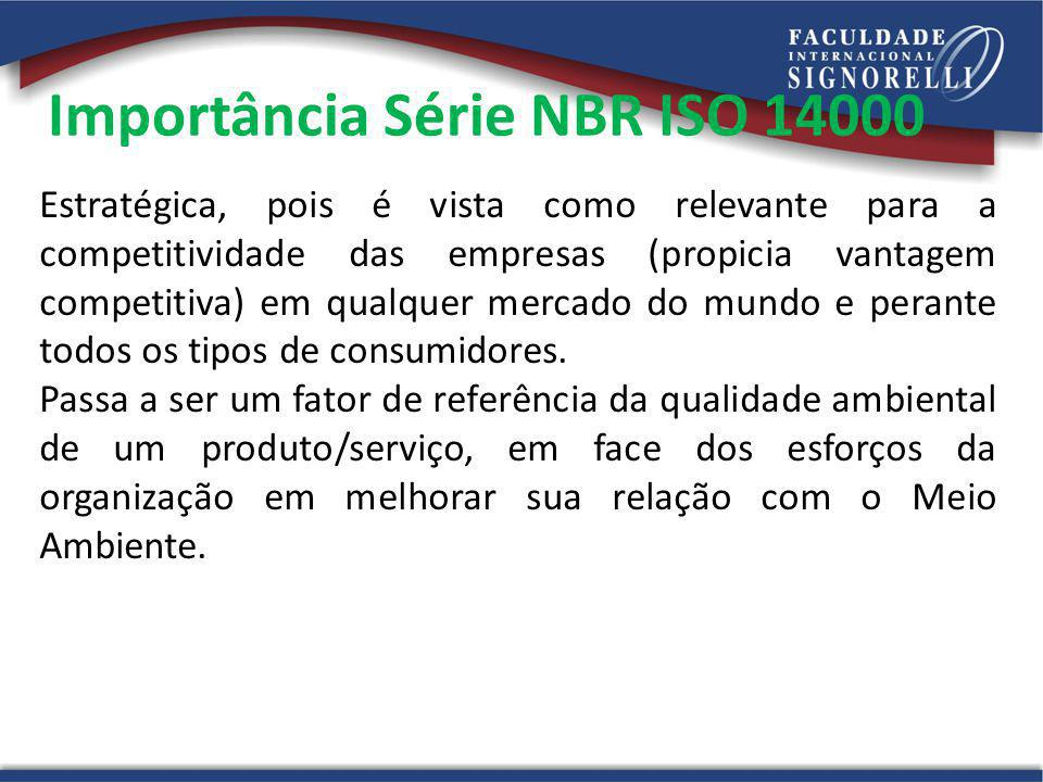 Importância Série NBR ISO 14000