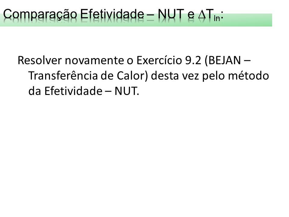 Comparação Efetividade – NUT e Tln: