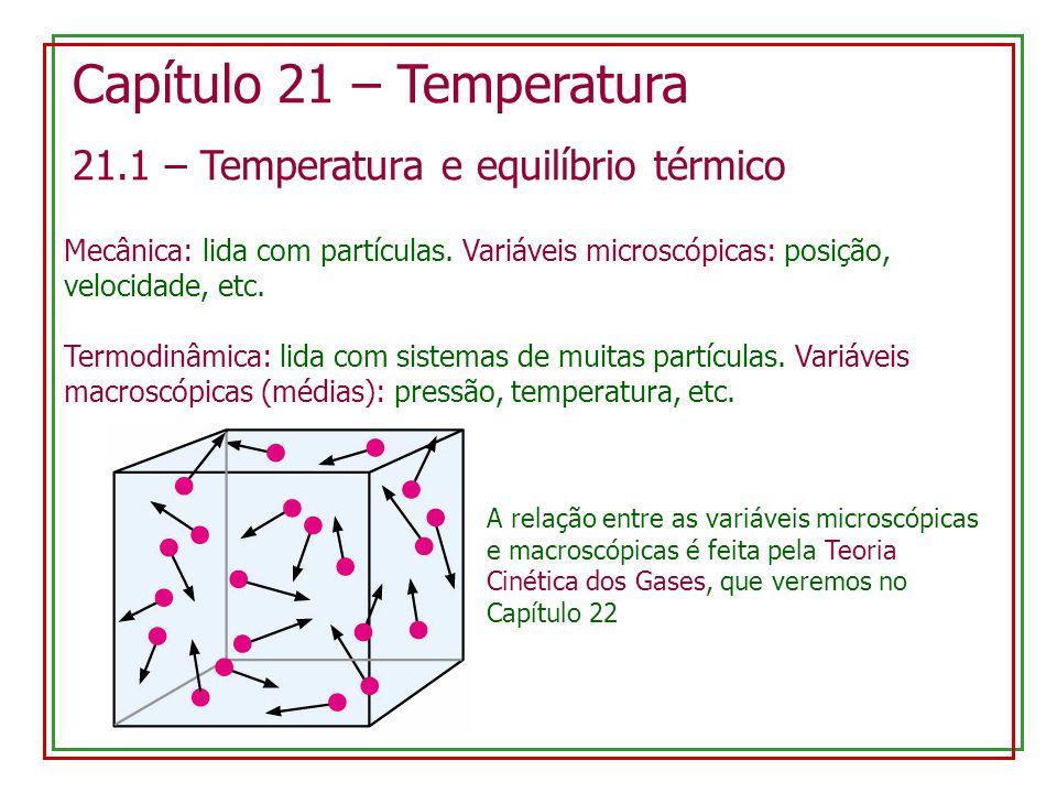 Capítulo 21 – Temperatura
