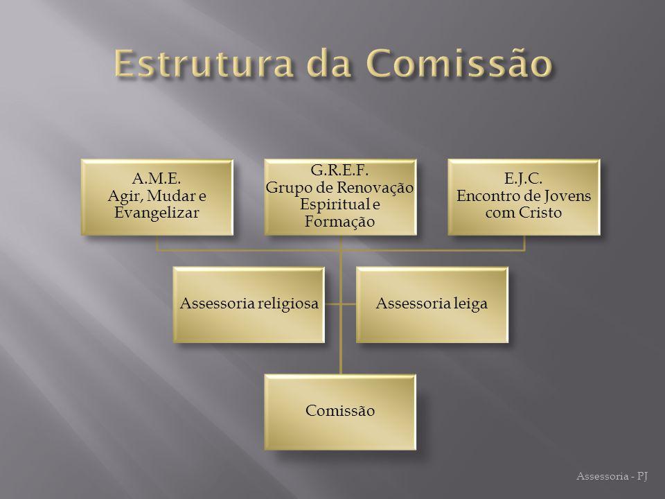 Estrutura da Comissão Comissão E.J.C. Encontro de Jovens com Cristo