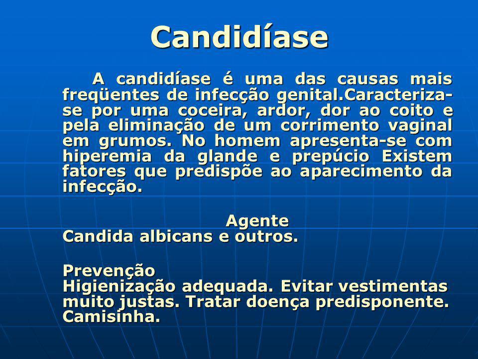 Candidíase Agente Candida albicans e outros.