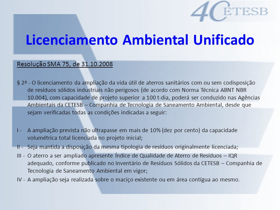 Licenciamento Ambiental Unificado