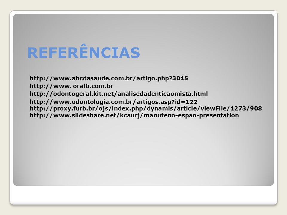 REFERÊNCIAS http://www.abcdasaude.com.br/artigo.php 3015