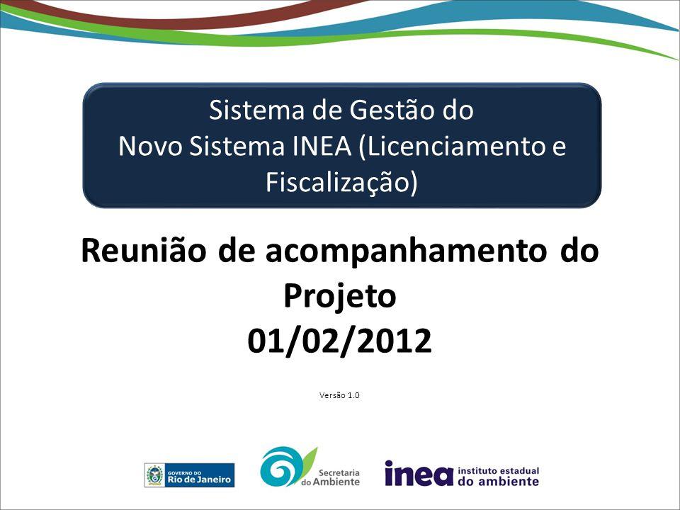 Reunião de acompanhamento do Projeto 01/02/2012 Versão 1.0