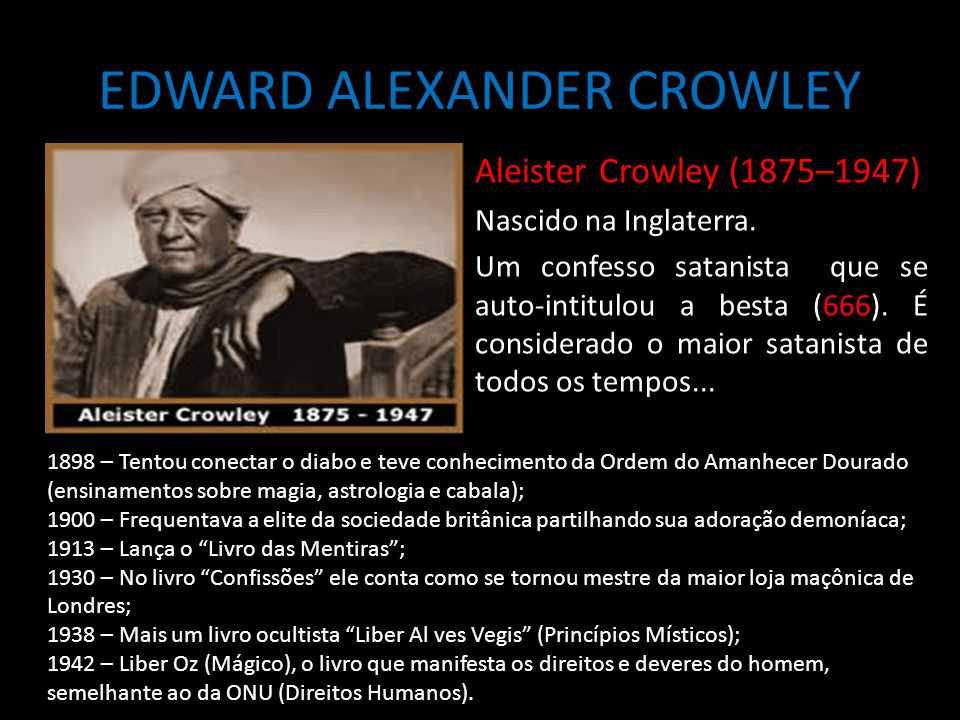 EDWARD ALEXANDER CROWLEY