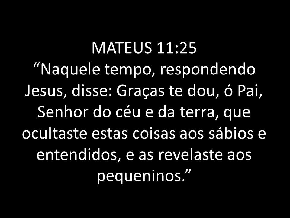 MATEUS 11:25