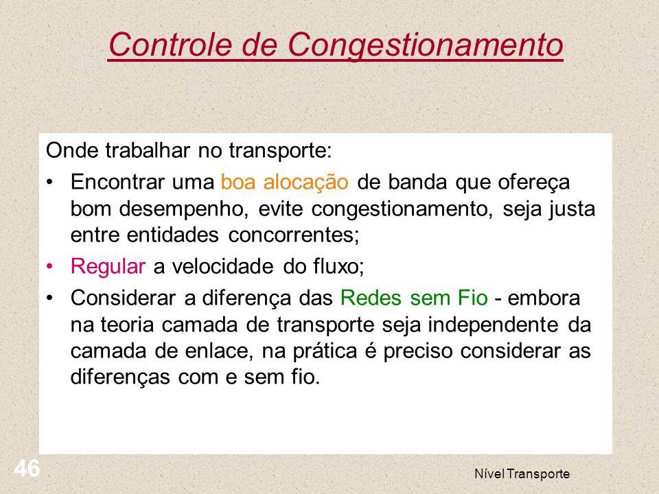Controle de Congestionamento