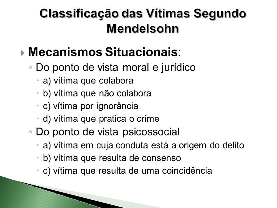 Classificação das Vítimas Segundo Mendelsohn