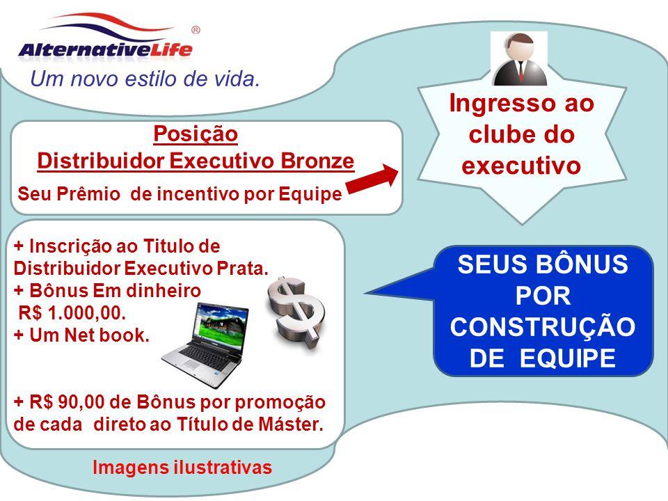 Ingresso ao clube do executivo SEUS BÔNUS POR CONSTRUÇÃO DE EQUIPE