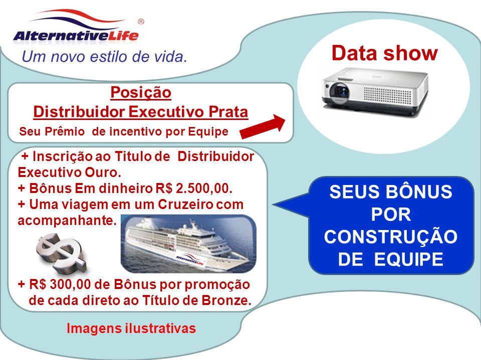 Data show SEUS BÔNUS POR CONSTRUÇÃO DE EQUIPE Um novo estilo de vida.