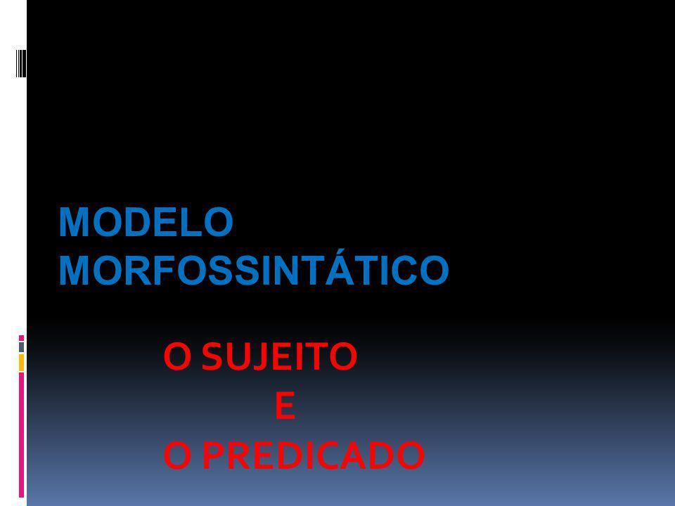 Modelo Morfossintático