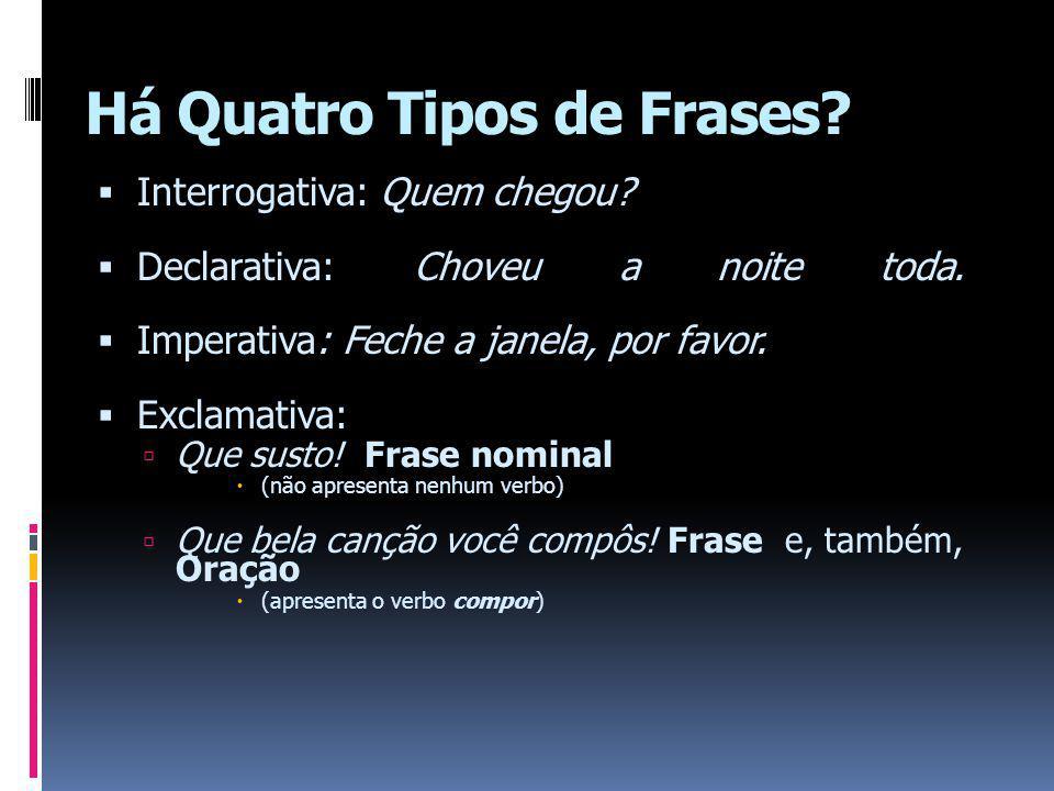 Há Quatro Tipos de Frases