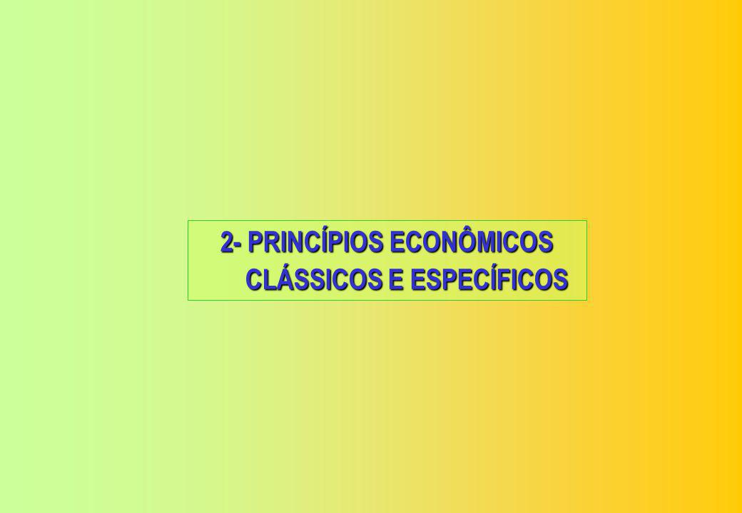 2- PRINCÍPIOS ECONÔMICOS CLÁSSICOS E ESPECÍFICOS