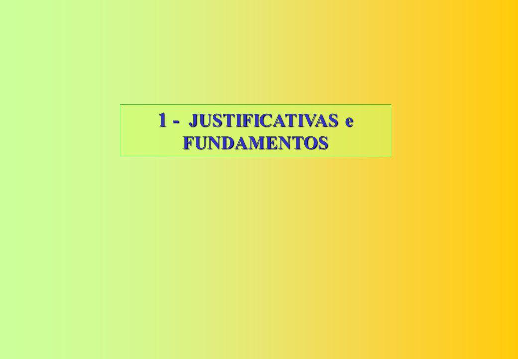1 - JUSTIFICATIVAS e FUNDAMENTOS