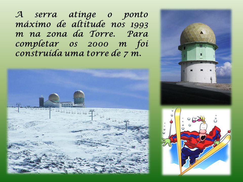 A serra atinge o ponto máximo de altitude nos 1993 m na zona da Torre